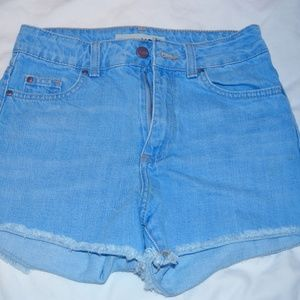 TOP SHOP high waisted jean shorts